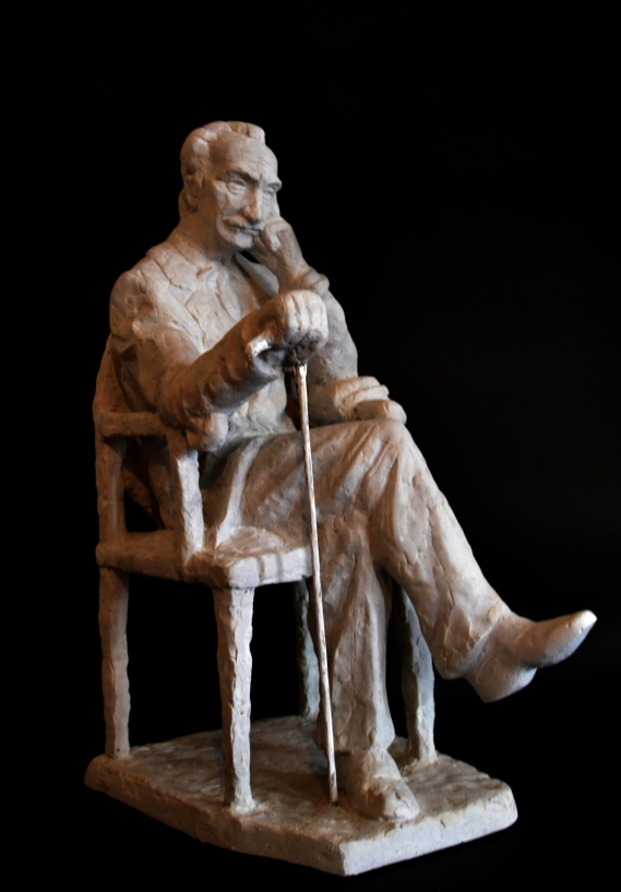 Branislav Nušić - sketch for monument (Plaster, 2014)