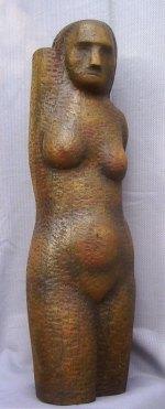 Torso (Wood, 90x35x30cm, 2002)