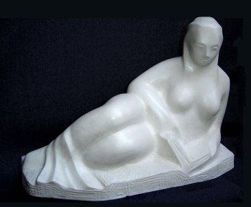 Poetry (Polymarble, 50x20x14cm, 2005)