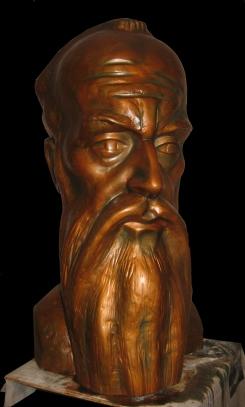 Saint Clement - Sketch for Monument (Plaster, 70x40x43cm, 2010)