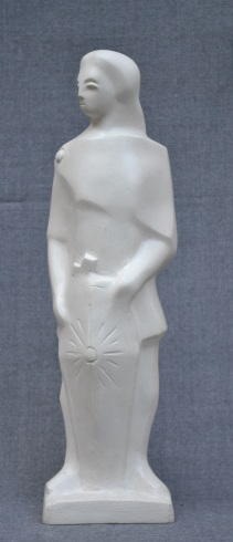 Macedonian Soldier (Polymarble, 32x10x13cm, 2006)