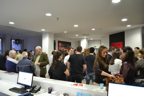 Accademia del Lusso was packed for the opening event!