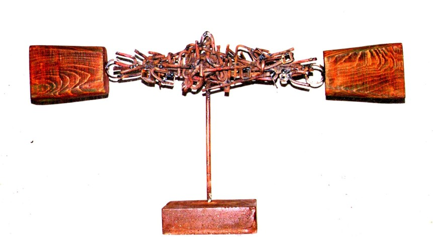 Crucifixion (Wood and Metal, 50x70x15cm, 2002)