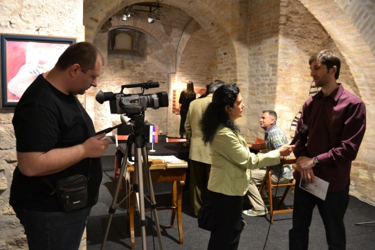 Noveski is interviewed by Radiotelevizija Vojvodina