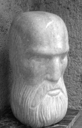 Old Man (Marble, 33x20x15cm, 2001)