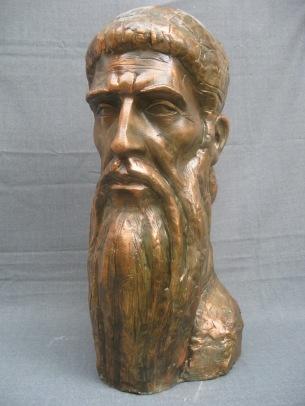 Saint Naum Ohridski - Sketch for Monument (Plaster, 70x35x40cm, 2010)