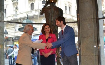 Progres Exhibition Opening - With Dimitrija Chudov and Ambassador Vera Jovanovska-Tipko