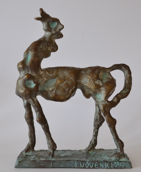 Year of the Horse (Bronze, 29x23x9cm, 2014)