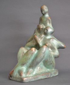 Family (Bronze, 18x28x20cm, 2019)