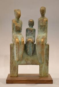 Family (Bronze, 34x19x14 cm, 2020)