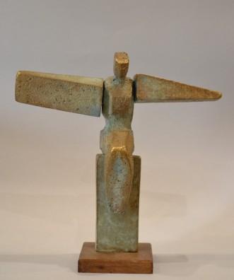 The Wings Are Heavy (Bronze, 30x32x12 cm, 2020)