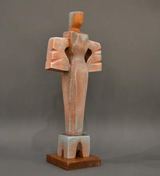 Woman (Wood, 38×17×10cm, 2020)